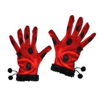 handschuhe marienk fer rot mit schwarzen punkten erwachsene nur von atrumpa. Black Bedroom Furniture Sets. Home Design Ideas