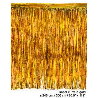 lametta vorhang ca 245 x 300 cm gold atrumpa preiswert kaufen baumaschienen schiffmodellbau. Black Bedroom Furniture Sets. Home Design Ideas