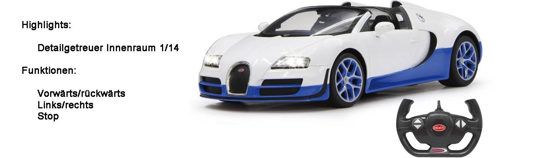 Bugatti Grand Sport Vitesse 1:14 weiß/blau 2,